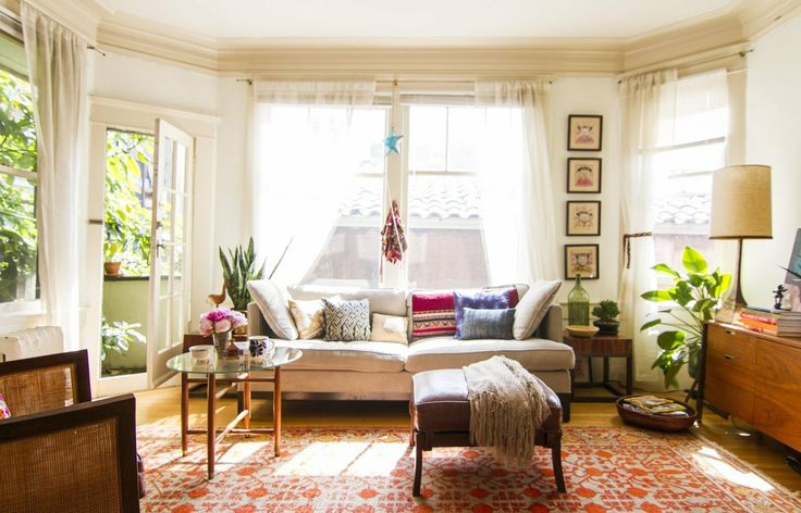 Table Apartment Therapy: Eclectic a bit bohemian.
