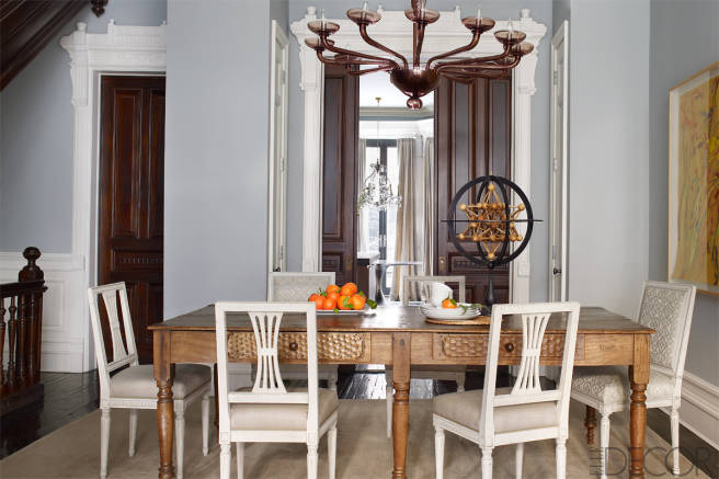 AphroChic: Sheila Bridges Updates A Harlem Brownstone