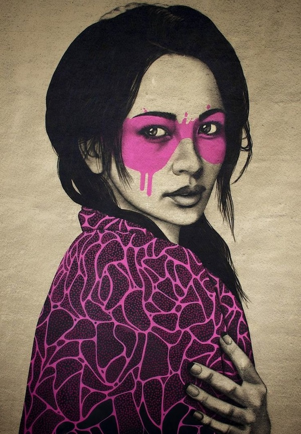 AphroChic: Fin Dac's Vivid Street Art Paintings Rock Our World